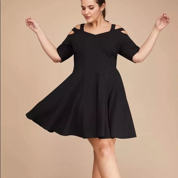 9bb88f6cd26 Lane Bryant Black Dress Fitted Plus Size 28 Womens